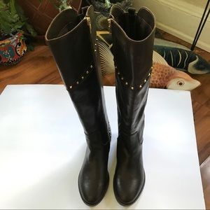Marc Fisher Calf Studded Tall Shaft Boots Size:7